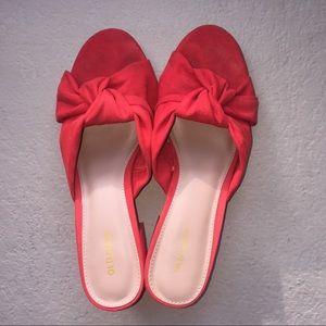 Old Navy Red Bow Block Heel Sandals